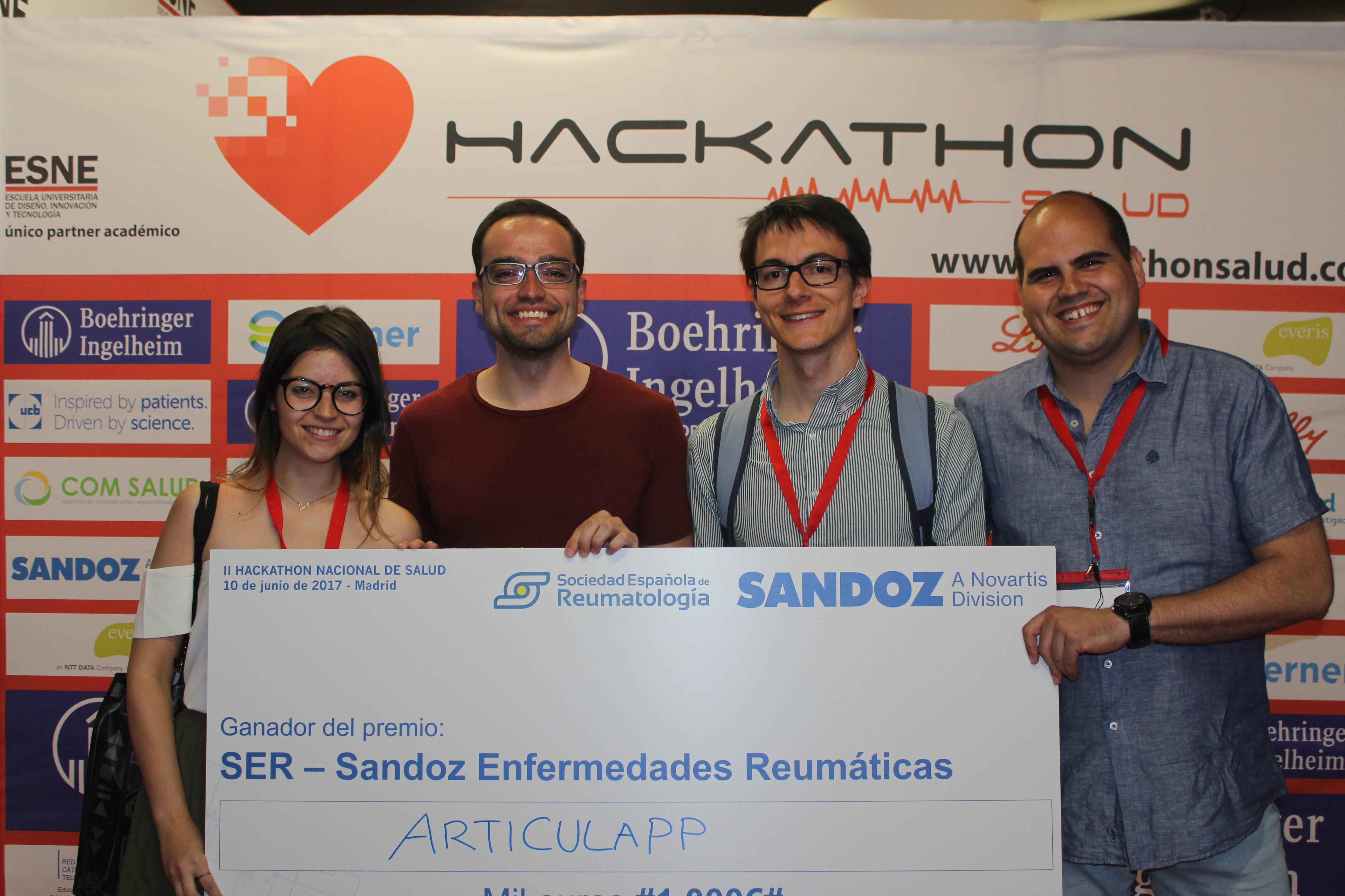 Equipo ganador Articulaap Premio SER-Sandoz Enfermedades Reumáticas